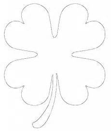 small template to print free printable four leaf clover templates large small