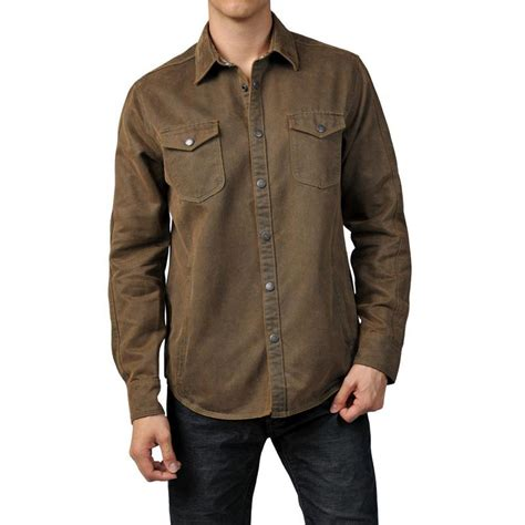 Shirts And Jackets S Jeremiah 174 Sleeve Suede Cotton Snap Button Front