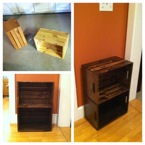 crate end table wine crate end table ideas