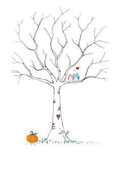 Wandgestaltung Mit Farbe Ideen 5037 by Fingerabdruck Baum Vorlage Brautpaar Just Married