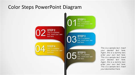 pattern shapes powerpoint color 5 steps shape for powerpoint slidemodel
