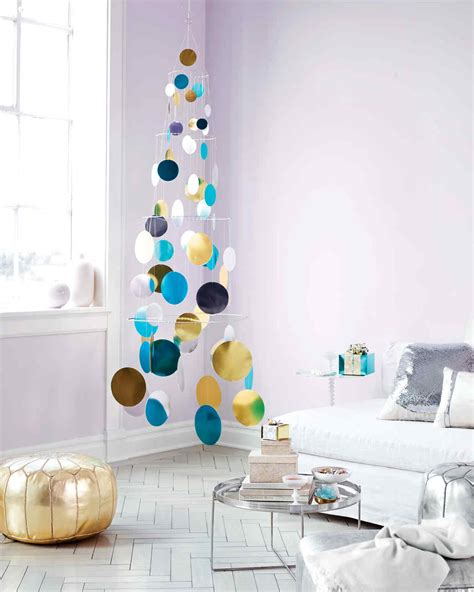 tree mobil metallic foil paillette tree mobile martha stewart