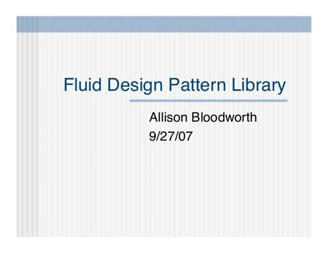 design pattern library pluralsight fluid design pattern library