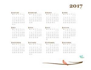 Calendar 2018 Office 2017 Yearly Calendar Mon Sun Office Templates