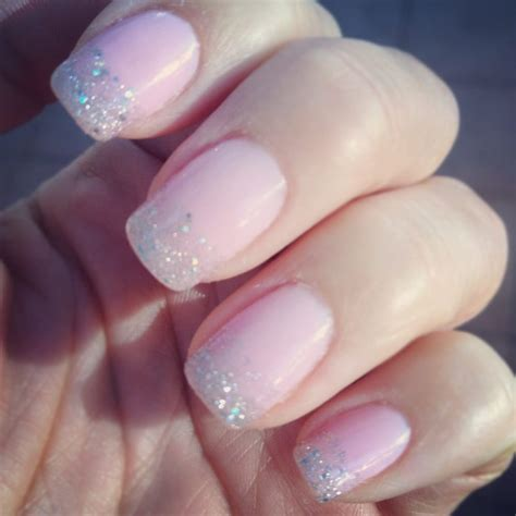 Gel Manicure by Glitter Tipped Gel Manicure Yelp