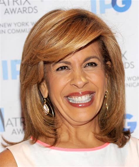 hoda kotb hair products hoda kotb medium straight formal hairstyle with side swept