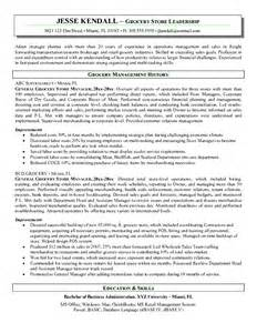 grocery store clerk resume free samples examples