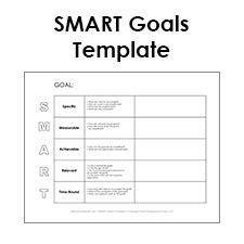 smart goal template pdf profesional pinterest goals