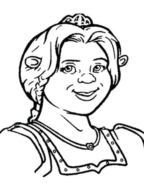 coloring pages of princess fiona princess fiona coloring pages