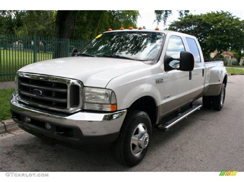 2004 Ford F350 by 2004 Oxford White Ford F350 Duty Lariat Crew Cab 4x4