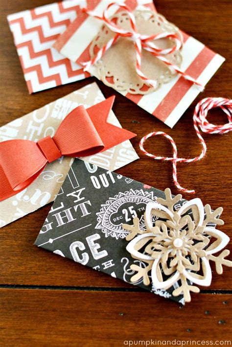 Handmade Christmas Gift Cards - diy christmas gift card envelopes a pumpkin and a princess