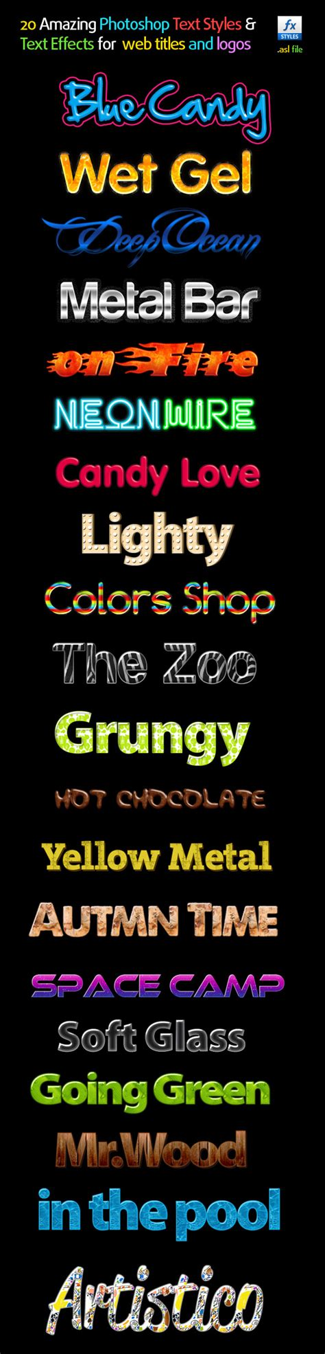 Kaos Amazing Graphic 20 Oceanseven 20 amazing photoshop text styles text effects graphicriver