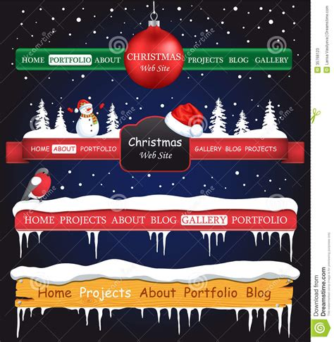 web site christmas elements stock illustration image