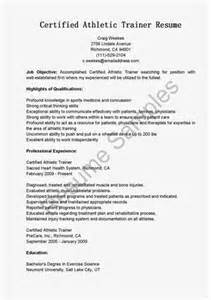 athletic trainer cover letter athletic trainer resume objective