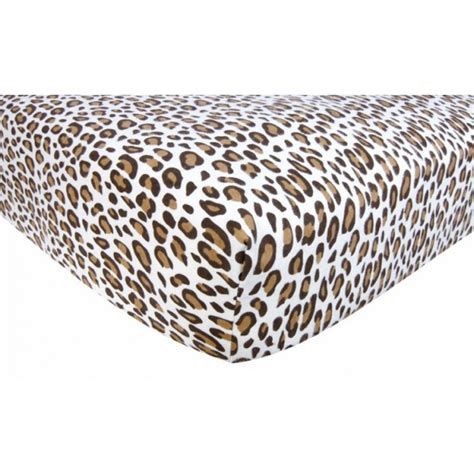 Leopard Crib Sheet leopard bedding
