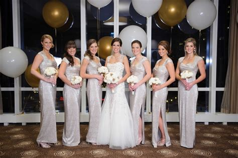 new year s wedding with glittering metallic details in