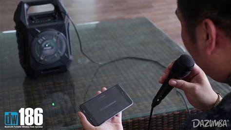 Speaker Bluetooth Dazumba Dw 186 heboh speaker karaoke harga cuma 285ribu suara dahsyat