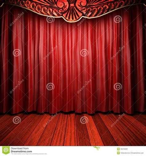 theater curtain fabric red fabric curtain stock image image 30419581