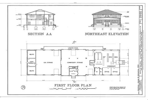 house plan elevation section section northeast elevation first floor plan macdill air
