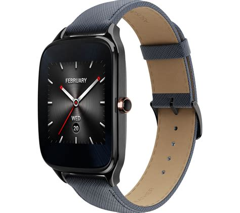 Asus Zenwatch 2 buy asus zenwatch 2 gunmetal blue free delivery currys