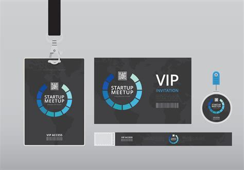 Vip Id Card Template by Vip Pass Id Card Template Realistic Blank Vertical Id