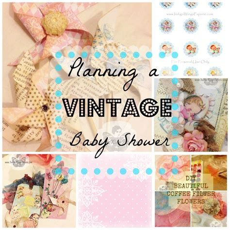 Vintage Baby Shower by Planning A Vintage Baby Shower Collage Vintage Baby