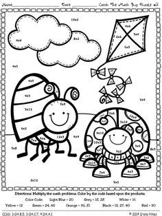 spring coloring pages math multiplication facts worksheets color silly turtle