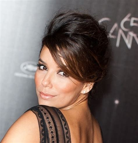 french twisted bangs eva longoria sext french twist updo with side swept bangs