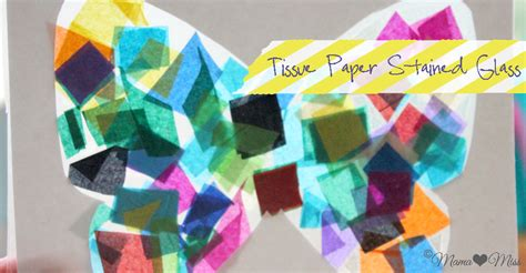 Tissue Paper Stained Glass Craft - crafts tissue paper stained glass
