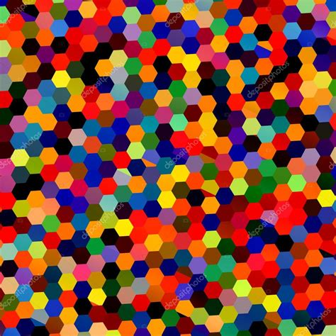 unique pattern background abstract colorful mosaic hexagons geometric background