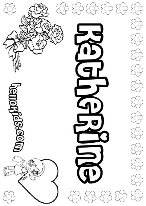 coloring pages of the name kate katherine zadajones free coloring pages