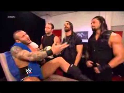 randy orton wwe backstage news rare photos the shield and randy orton backstage youtube