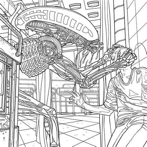 Alien Coloring Book Pages Available For Download Avpgalaxy Coloring Pages Books