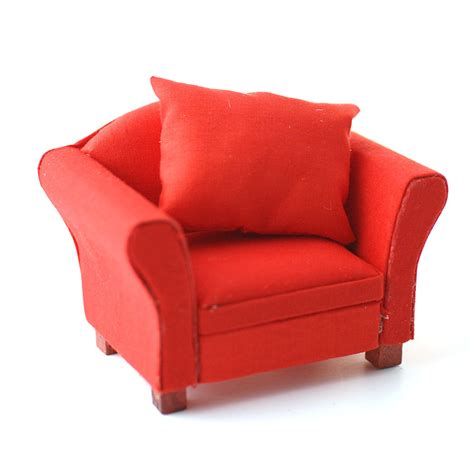 df1157 modern red armchair online dolls house superstore