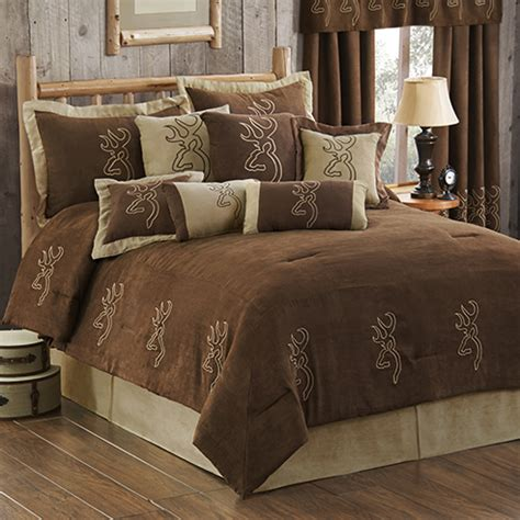 browning bed sets browning buckmark embroidered suede by browning beddingsuperstore com