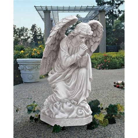 outdoor angel statues large praying basilica indoor outdoor garden statue sculpture db24728 26 quot h ebay