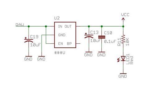 power arduino pro mini  vcc pin  input