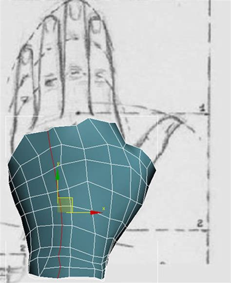 Creating A Blueprint hand modeling with 3dsmax by hatice bayramoglu 3d2dizayn