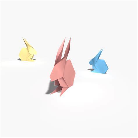 3d Origami Rabbit - 3d model origami rabbit