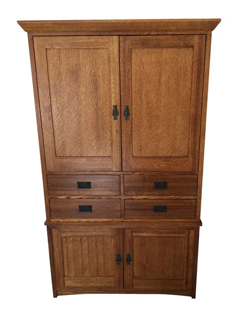 restoration hardware armoire restoration hardware mission style armoire chairish