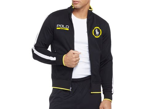 ralph polo sport cotton blend piqu 233 track jacket in