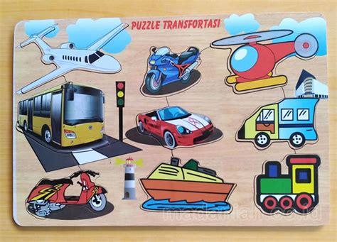 Puzzle Alat Tranportasi alat peraga edukasi puzzle alat transportasi