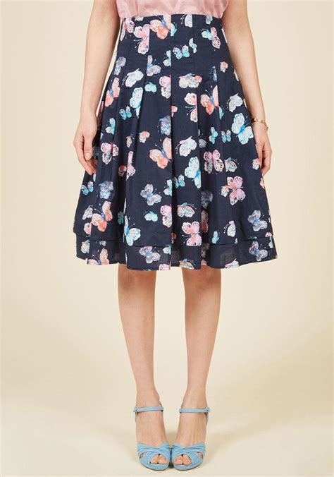 Ll Mono Line Dress modcloth that ll fly a line skirt in blue lyst