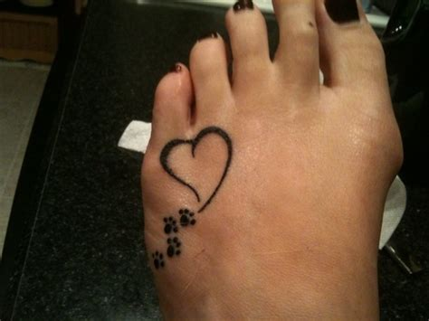 27 Cute Paw Tattoos Images Paw Print Memorial Tattoos