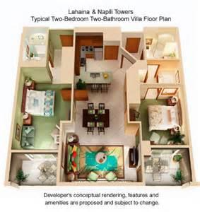 Marriott Maui Ocean Club Floor Plan Marriott Lahaina And Napili Villas Do All Two Bedrooms