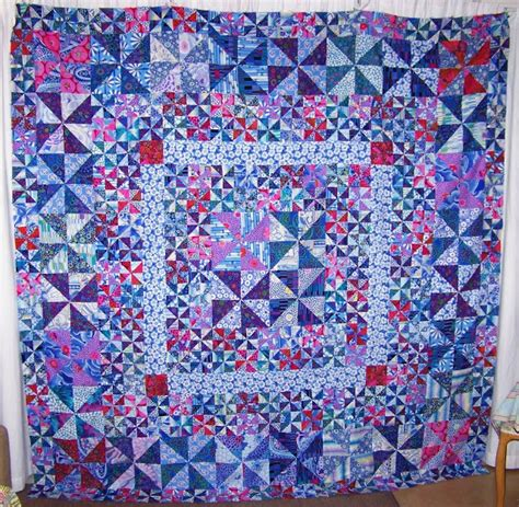 Pin Wheel Quilt by Cape Pincushion Pinwheel Quilt Top Finished