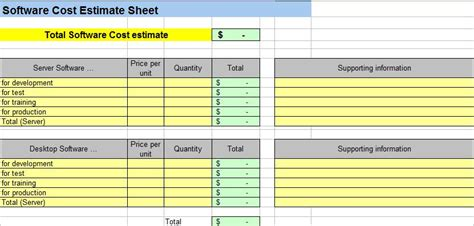 Excel Project Expense Template Estimate Costs Templates Project Management Templatesfree Project Cost Estimate Template Spreadsheet