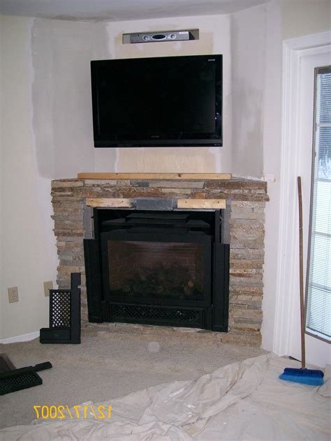 Corner Fireplaces With Tv Above by Corner Gas Fireplace Designs Photos