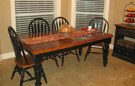 curb alert my new kitchen farm table wood refinishing