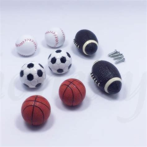 baseball themed drawer pulls sports ball pulls knobs handles drawers cabinets soccer